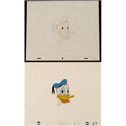 Cool Donald Duck Original Animation Cel Drawing Art