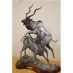 Dynamic Bronze Sculpture Titled 'Ghost Dance'