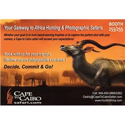 10-day Namibia and South Africa plains Game Hunt and Filming for Four Hunters