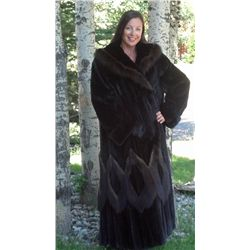 Mink Coat with Fisher Trim