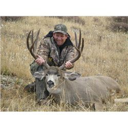 7-day British Columbia Rocky Mountain Mule Deer Hunt for One Hunter