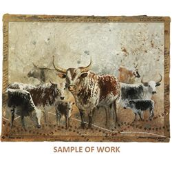 Original Painting of African Nguni Cattle