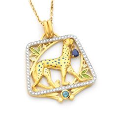 18K Gold Pendant/Brooch 'African Dream'