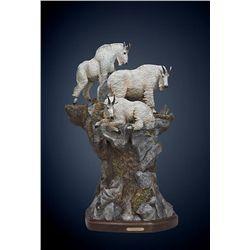 Bronze Mountain Goat Sculpture