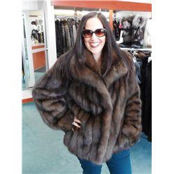 Natural Russian Sable Jacket