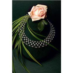 18K White Gold 'Lattice' Style Necklace