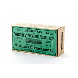 Ammo:  3rd Style Win. Box of .44 Cal. Cartridges