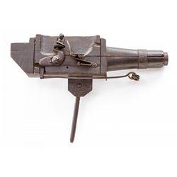 English Flintlock Trap Gun