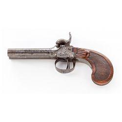 Belgian Double Barrel Perc. Pistol