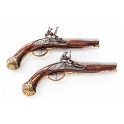 Pr. of Brescian FL Coat Pistols, by Lazarino