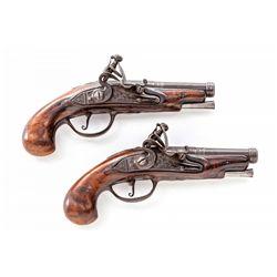 Pair of No. Italian Flintlock Pocket Pistols