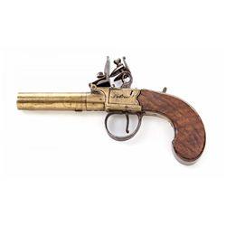 Early Brass FL Screw-Barrel Pistol, by Patrick
