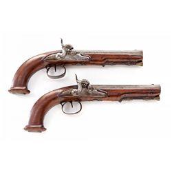 Pr. of Unmarked European Perc. Coat Pistols