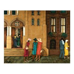 Answerd Stewart : Church Sisters Giclee Signed