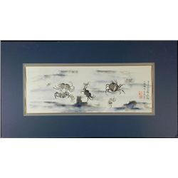 Ocean Crabs Original Asian Chinese Painting -Matted