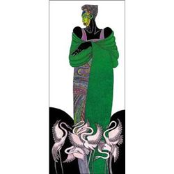 Charles Bibbs- Ebony Series 8: Green Lithograph