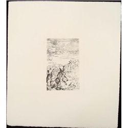 Renoir Etching Art Print - Sur La Plage (On the Beach)