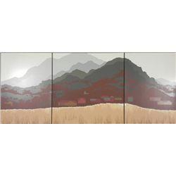 Steve Horan Signed Triptych 3 Pc Art Print Sawer Ridge