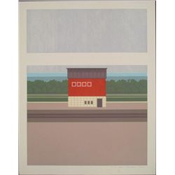 Steve Horan Signed Rural Art Print Lens Barn 1974