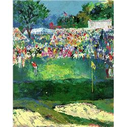 "LeRoy Neiman Signed Golf Art Print ""Bethpage Black-"""