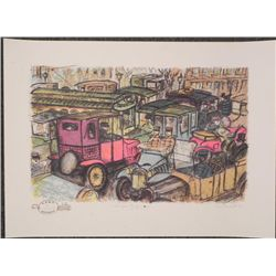 Edward Plunkett Signed Artist Proof Vampire Traffic Jam