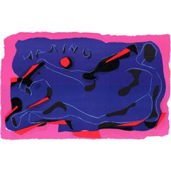 Marino Marini Composition with Reclining Horse Print