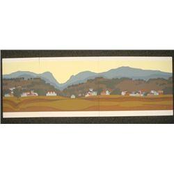 Steve Horan Signed Triptych 3 Pc Art Print Mt. Stacy