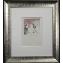 Marie Laurencin Etching Three Graces Framed