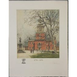 Eidenberger Signed Print Philadelphia Independence Hall