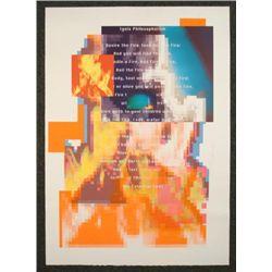 "April Greiman Signed Print ""Fire"" Modern Art Design"