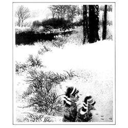 Peter Milton UNDER GREYLOCK Etching 1994 Art Print