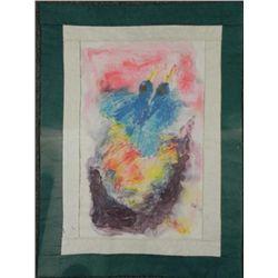 Betty Heredia Original Batik Fabric Painting Blue Birds