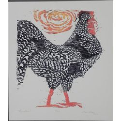 Betty Snyder Rees Rooster Original Signed Numberd Print
