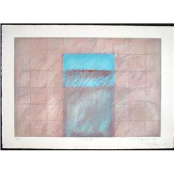 Don Kellogg Cowan Signed Abstract Art Print Terrain VII
