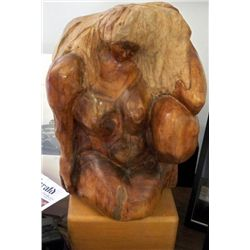 Betty Snyder Rees Original Wood Sculpture Female Nude