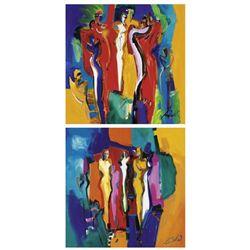 Bachelor Party I and II Alfred Gockel Art Prints
