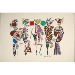 After Kandinsky Interpretation Modern Art Print