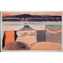 Hans Graeder Signed Artist Proof Print Abstract Nude