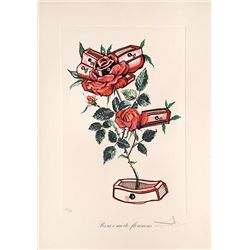 "Dali Signed - ""Rosa e Morte Floriscens"""