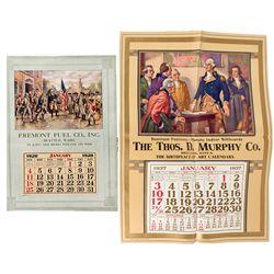 Washington Broadside Calendars -