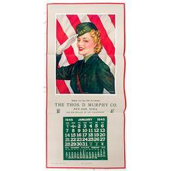 WWII Calendar Broadside -