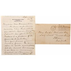 Letter from Mrs.Theodore Roosevelt - Oyster Bay, NY