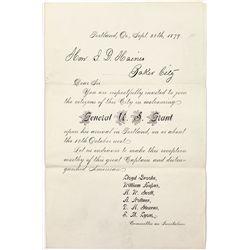 General U.S. Grant Invitation - Baker City, OR