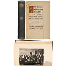 Twain's Speeches at the Lotos Club 1st Edition - New York, NY