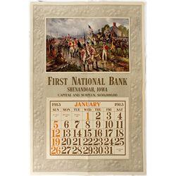 Banking Calendar Broadside -