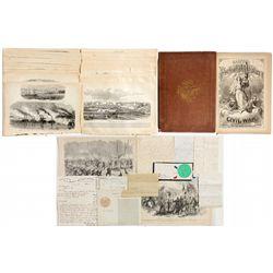 Civil War Haper's Commemorative, Letters and Art -