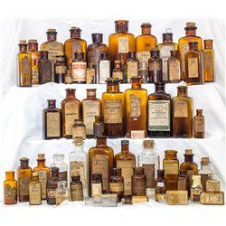Sixty (60) labeled drug bottles -