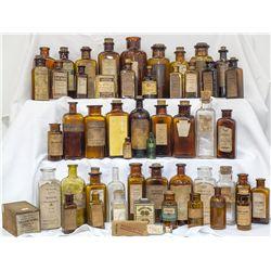 Fifty One (51) Labeled Drug Bottles -