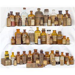 Seventy Six (76) Labeled Drug Bottles -