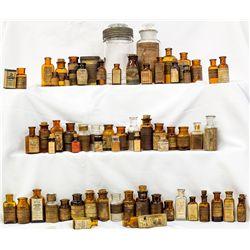 About 100 (one hundred) Labeled Drug Bottles.  -